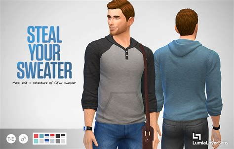 Sweater Cc a plain simple henley styled sweater for your