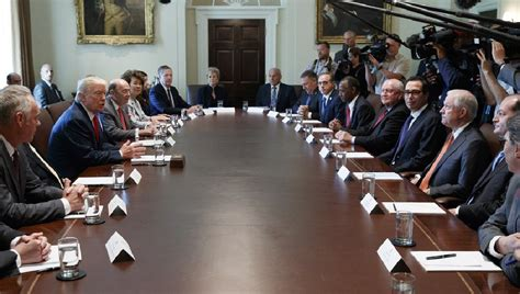 White House Cabinet Members White House Says Has No Plans To Shift Cabinet