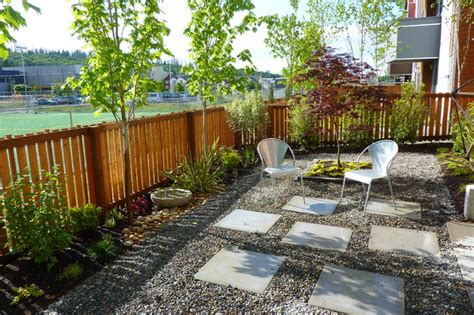 Gravel Backyard Ideas Contemporary Gravel Garden Contemporary Landscape Seattle By Erin Lau Landscape Design