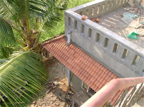 kerala house construction tips 11 parapet and plastering kerala house construction for binu thomas november 2008