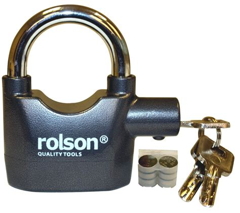 Shed Bike Lock by Rolson Loud Alarm Security Padlock Bike Lock Shed Gate Ebay