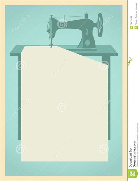 Sewing Machine Background Stock Image   Image: 38670251