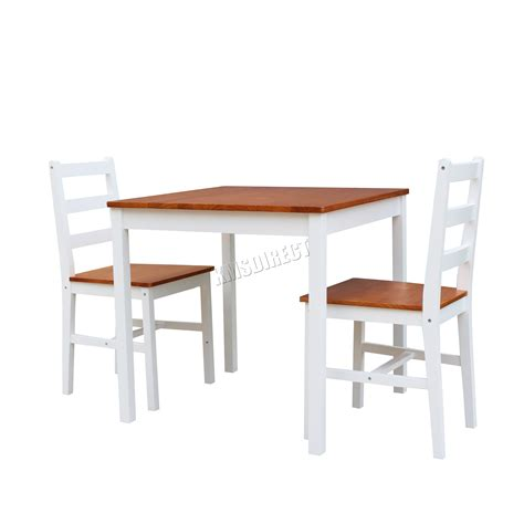 pine wood dining table set foxhunter solid pine wood dining table with 2 chairs set