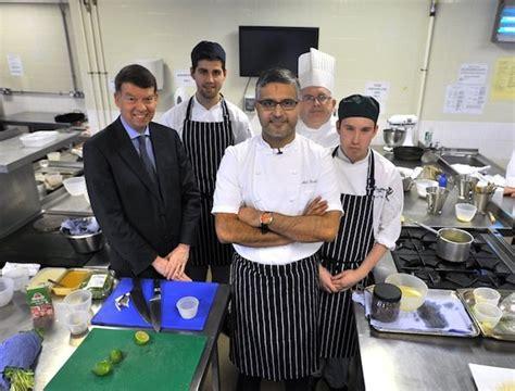 celebrity chef atul kochhar cooks  guildford college