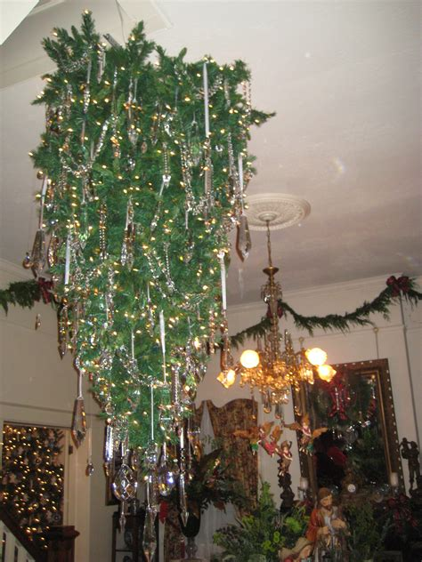 how to hang a christmas tree from the ceiling christmas