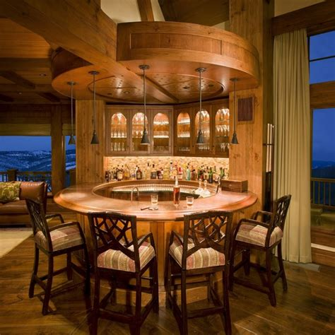 rustic home bar legacy heavy timber frame custom home w observatory