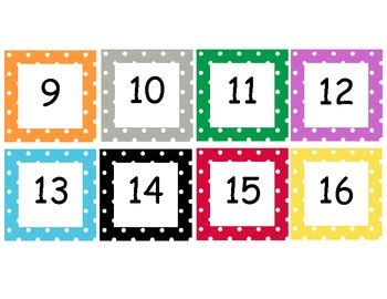 5 best images of printable dot flash cards free polka dot numbers cards 1 100 by sara cooper teachers