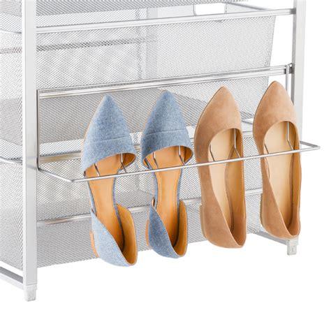 elfa shoe storage platinum elfa hangmate shoe rack the container store