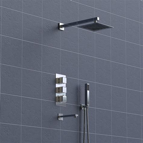 3 Way Shower by Concealed 3 3 Way Thermostatic Shower Wall Mounted
