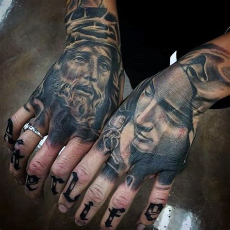 jesus gun tattoo 17 best ideas about hand tattoos for men on pinterest