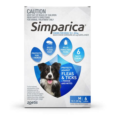 flea and tick meds for dogs simparica for dogs flea and tick treatment 6 chews ebay