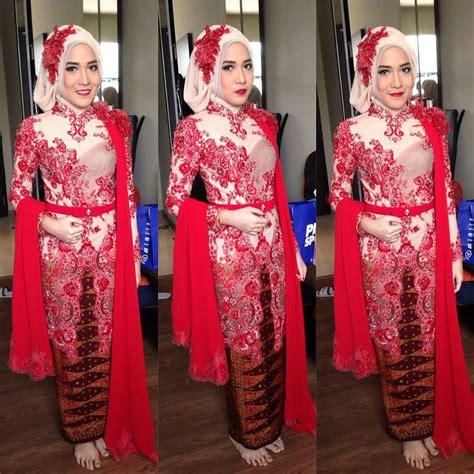 kumpulan artikel model kebaya kebaya merah cantik ibu ani model baju kebaya muslim terbaru untuk remaja dengan