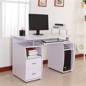 Small Desk With Printer Drawer Computer Desk Laptop Pc Table Desktop W Monitor Printer
