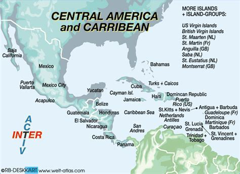 interactive map of central america and caribbean caribbean interactive map my