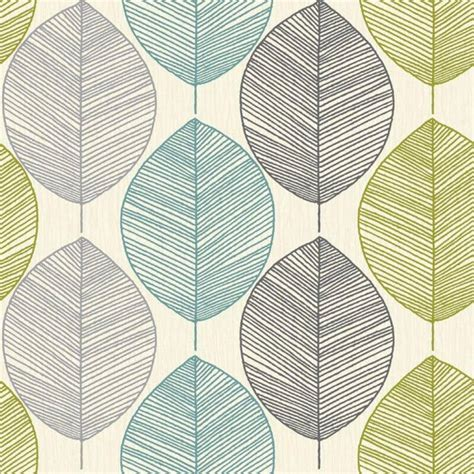 grey wallpaper ebay uk arthouse retro leaf wallpaper in teal and green 408207