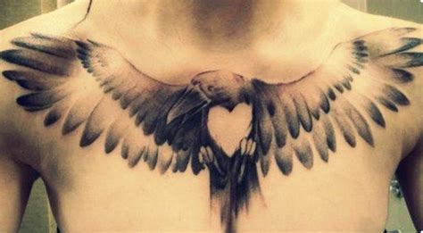 bird chest tattoo sparrow tattoos