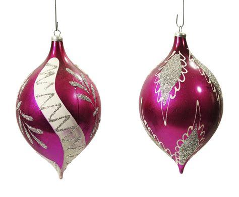 christmas ornaments by eb vintage teardrop ornaments a pair chairish