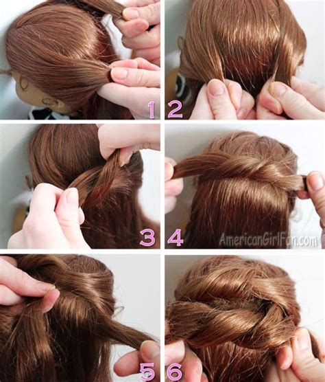 Hair Style Dolls by Steps To Do A Knotted Bun Doll Hair Styling