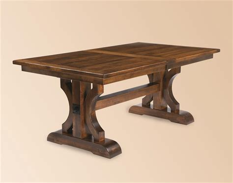 Amish Made Dining Tables Amish Made Barstow Trestle Table With Plank Top