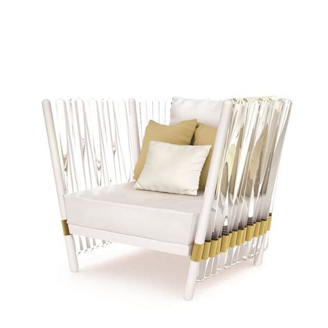 steel armchair crystal lacquered outdoor gold plated stainless steel armchair