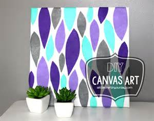 diy canvas art a little craft in your day