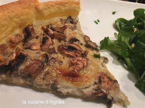 la cuisine d agnes tarte 224 la fourme d ambert et aux chignons 3