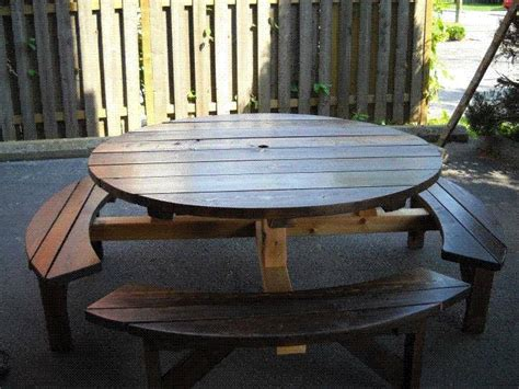 round picnic bench plans best 25 round picnic table ideas on pinterest outdoor