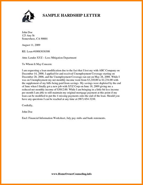 Employment Hardship Letter exles of hardship letters for immigration cover