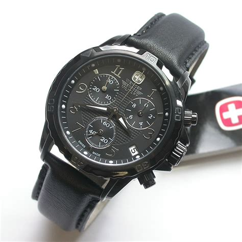 400 wenger gst black chronograph 41mm suede leather 79146