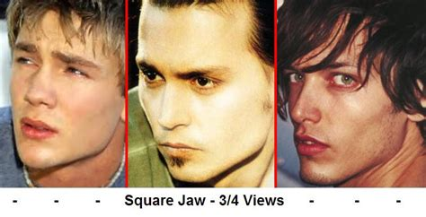 the square jaw line for the women does a mans chin and jaw line effect
