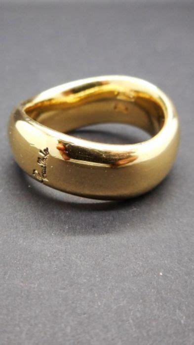 fedone pomellato pomellato anello fedone oro giallo 18 ct diametro 16 4 mm