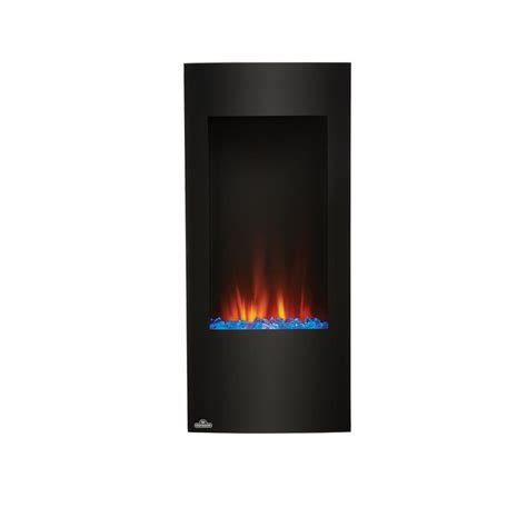 napoleon 38 in vertical wall mount electric fireplace in