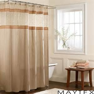 Maytex embroidered panel fabric shower curtain free shipping on