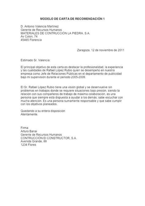 una carta para lily ejemplo de carta de recomendaci 243 n formal ejemplos de