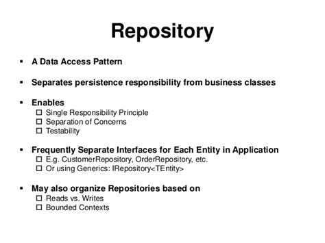 repository pattern vs data access layer common asp net design patterns telerik india devcon 2013