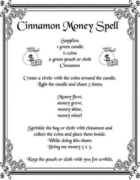 libro moon spells how to cinnamon money spell printable spell page witches of the craft 174