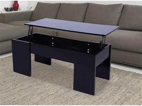 table basse 100 x 50 table basse quot quot 100 x 50 x 43 55 5 cm noir 68024 68032