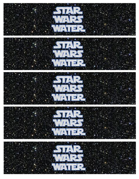 printable star wars drink labels water bottle labels party by a princess