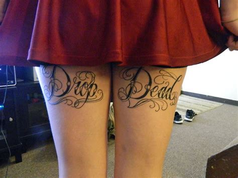 back thigh tattoo beccas i also got new back thigh tattoos
