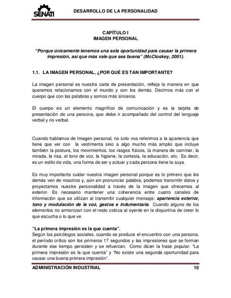 carta de agradecimiento senati manual senati 89001614 desarrollo de la personalidad