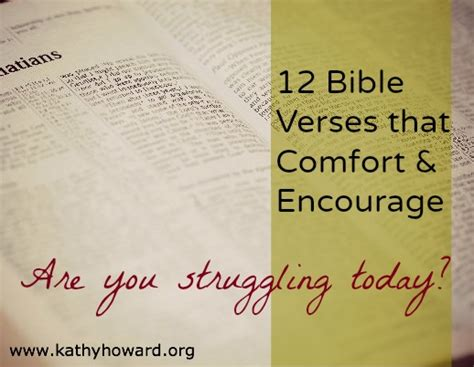 Comfort Verses by Kathy Howard S Unshakeable Faith For 12