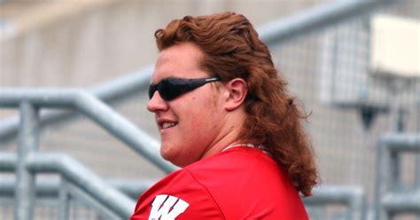 redheaded wisconsin lineman  open season   glorious  mullet fox sports