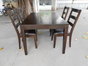Setting A Dining Table Solid Wood Dining Table Set Decobizz