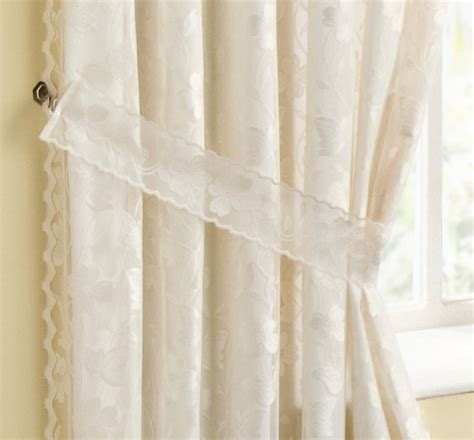 cream lace curtains natural cream lace lined curtains pencil pleat tape top