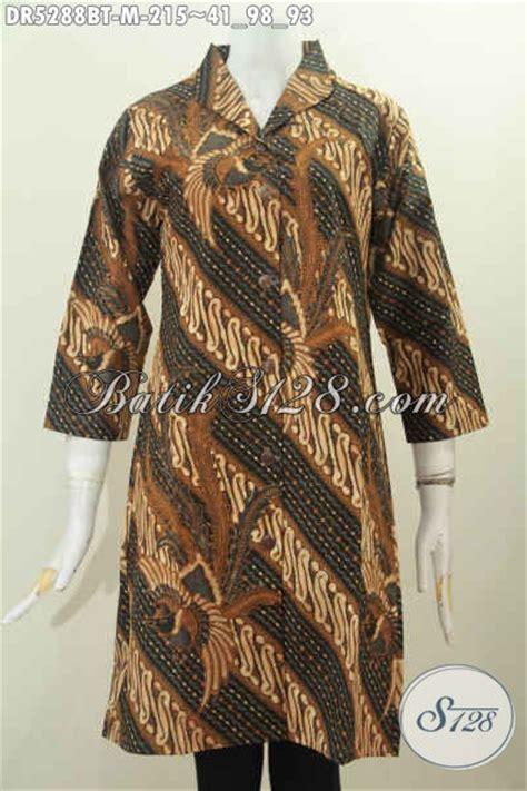 Square Dressbaju Terusan Wanita baju batik wanita model terbaru dress batik terusan kerah langsung motif klasik kombinasi tulis
