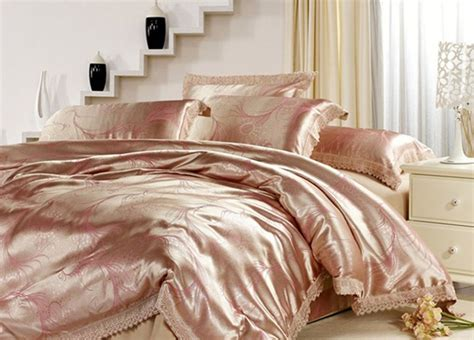 satin coverlets bedspreads gold queen luxury christmas bedding set satin comforter