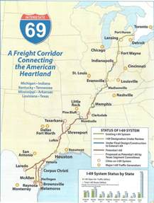 image gallery interstate 69 map