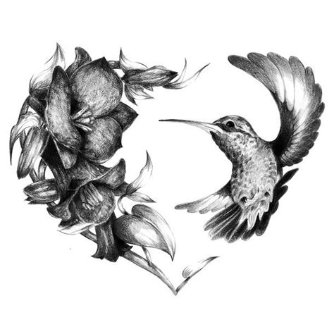 hummingbird heart tattoos realistic hummingbird design