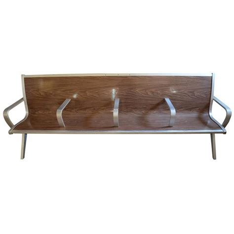 waiting benches mid century bench from waiting room of train bus depot at