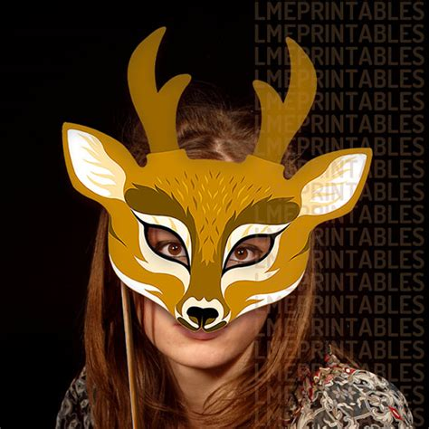 printable reindeer mask reindeer mask party printable deer animal masks paper mask